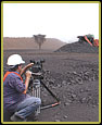Fort Greene Filmworks filming at open cast manganese mine in the Kalahari Desert, South Africa.