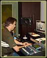 Janno Müller of On-Key Sound Studios during the final audio mix of Saving Soweto.